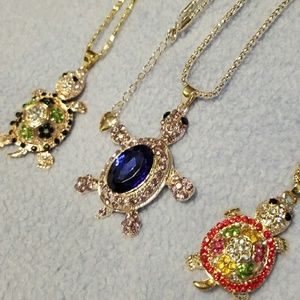 Betsey Johnson Turtle necklaces
